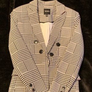 Black and white blazer!